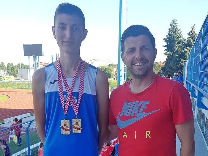 Photo of Luka Ćurković dvostruki prvak Hrvatske